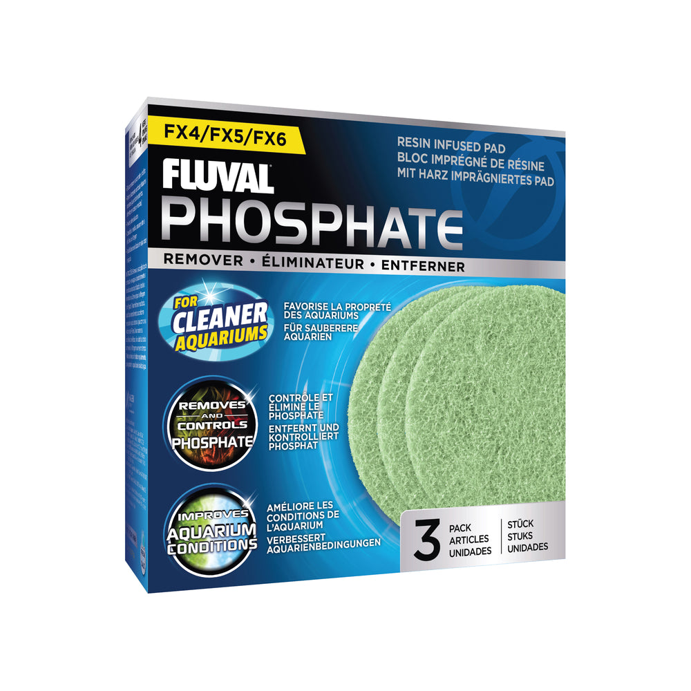 Fluval Canister Phosphate Remover Pads, 3 Pack FX4 FX5 FX6 Premium Filter Pads A-262 A262 015561102629