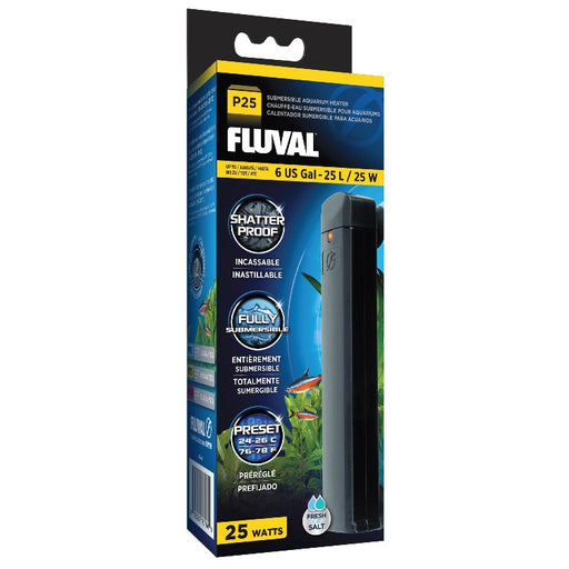 Fluval P25 25 Watt Submersible Aquarium Heater - Up to 6 Gallons