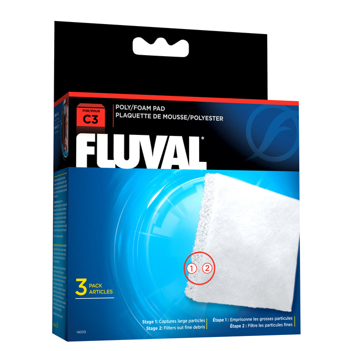 Fluval 14009 poly foam pad set