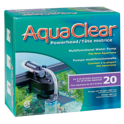 fluval hagen aqua clear aquaclear powerhead power head water pump aquarium fish tank 20 a585 015561105859 gallon