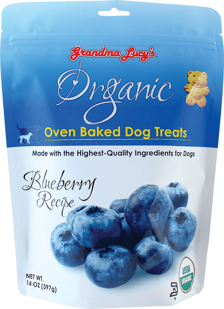 884308220076 Organic blueberry oven baked dog treats grandma lucy's