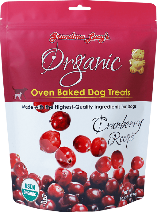 884308220151 grandma lucy lucys lucy's organic baked oven  cranberry dog treats