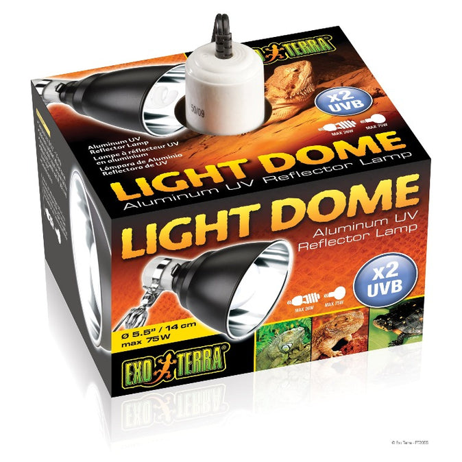 Exo Terra Dome Light Small - 5.5 inch with UV Reflector
