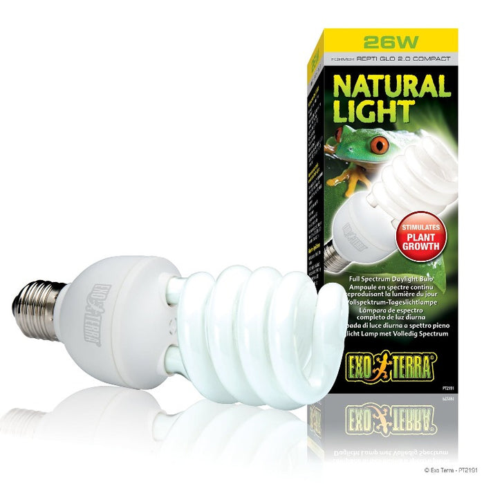 Exo Terra Natural Light Lamps - Full Spectrum Daylight Bulbs
