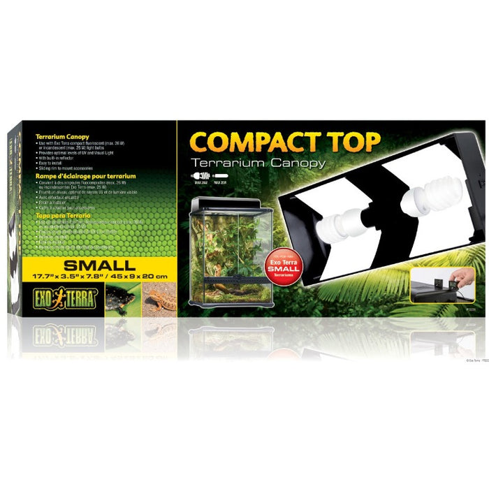 Exo Terra Compact Top Plastic Canopy for Small 18 in Terrariums