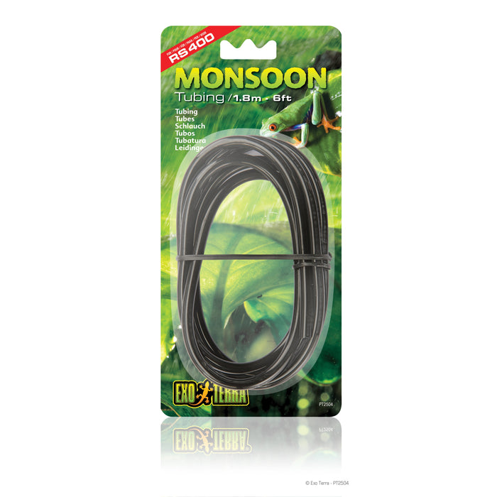 PT2504 Exo Terra Monsoon Misting Replacement Tubing Line Black PVC 015561225045