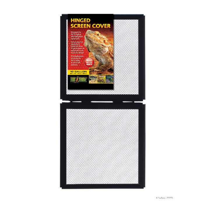 "Exo Terra Hinged Screen Cover 20"" x 10"" - 10 Gallon"