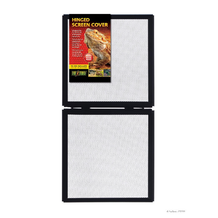 "Exo Terra Hinged Screen Cover 24"" x 12"" - 15 & 20 Gallon"