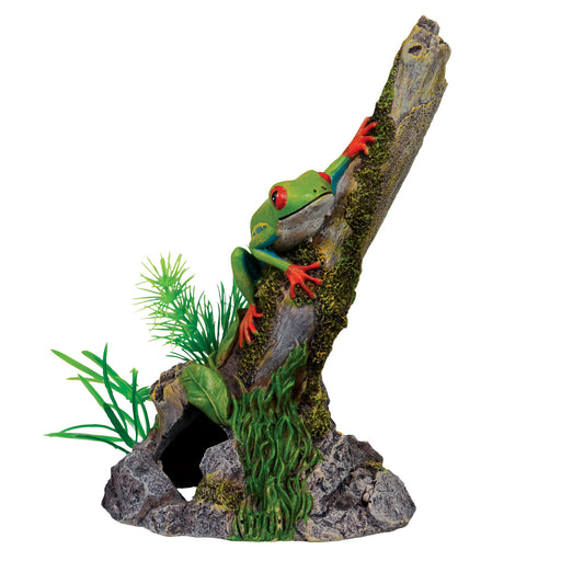 Ornament Red Eye Tree Frog on Stump
