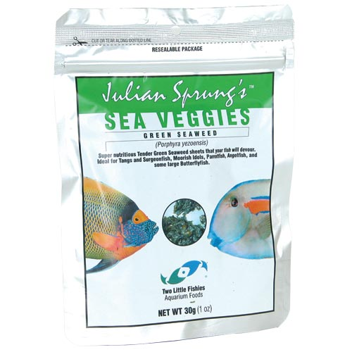 Sea Veggies Green 30 gm Pouch 30g 1 oz SeaVeggies julian Sprung Sprung's Two Little Fishies 748172505021