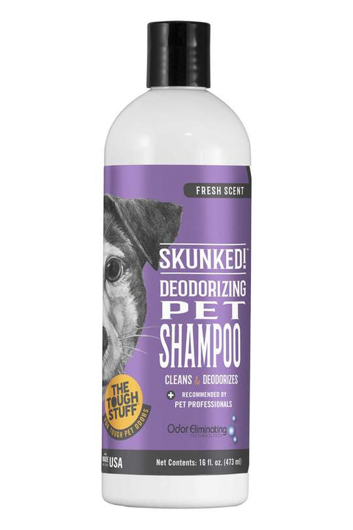 SKUNKED! Deodorizing Pet Shampoo 16 oz  Skunk Odor Relief  stink smelly dog nilodor bobbi panter 021883000147 816 SHP 816SHP