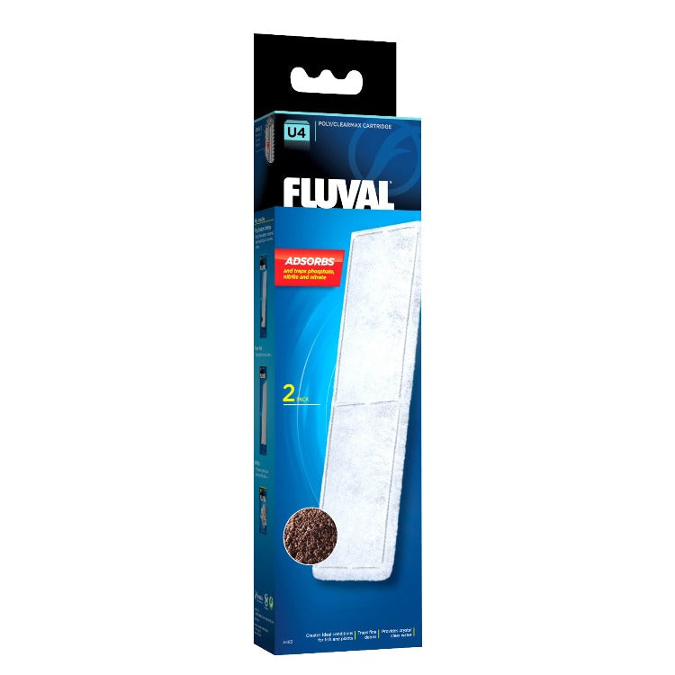 015561104838 A-483 A483 Fluval U4 Underwater Filter Poly Clearmax Cartridge - 2 Pack poly/clearmax