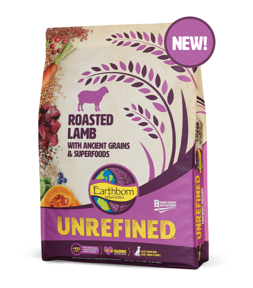 Earthborn Holistic Unrefined Roasted Lamb & Ancient Grains Dry Dog Food
