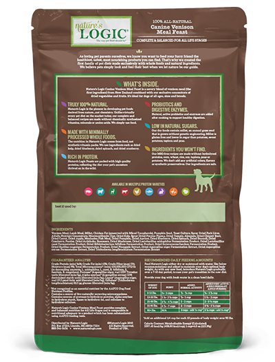 Nature's Logic Canine Venison Meal Feast All Natural Dog Food