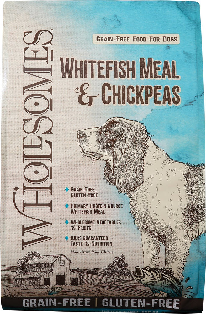 wholesomes sportmix sport mix whole somes dog food whitefish meal and chickpea grain free gluten free dog diet