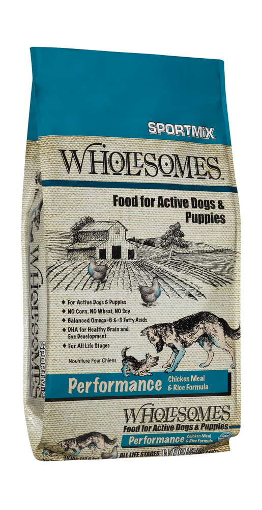 wholesomes sportmix sport mix whole somes dog food performance chicken meal and rice dog diet