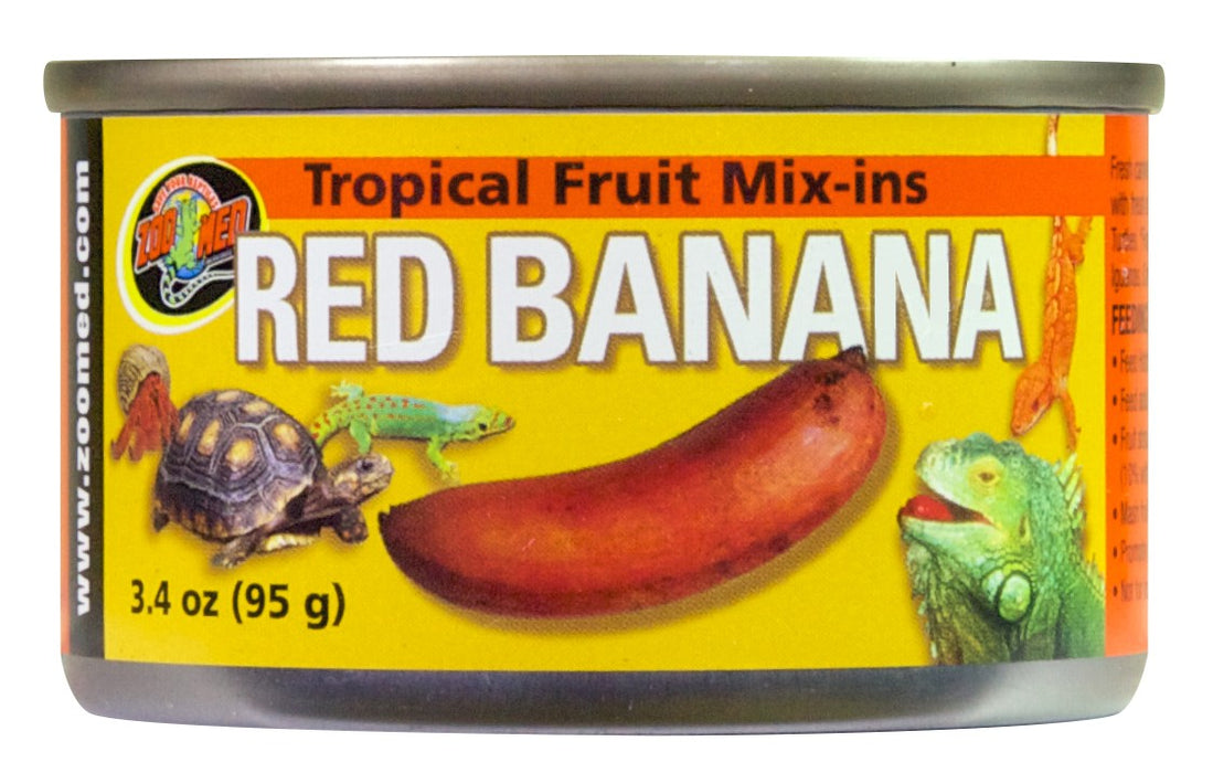 Zoo Med Tropical Fruit Mix-ins, Red Banana 3.4 oz