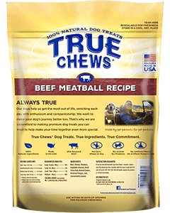 True Chews Beef Meatball Recipe Dog Treats