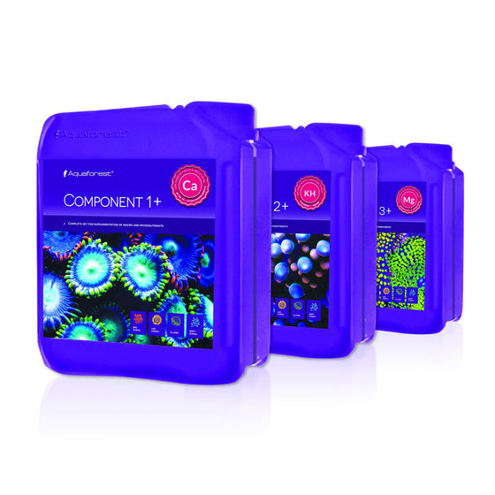 Aquaforest Component 1+,2+,3+, X 5L - Sustainable Marine Canada - Reef Aquarium Supplies Plus+