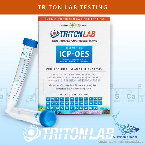 TRITON Lab ICP Testkit - Sustainable Marine Canada - Reef Aquarium Supplies Plus+