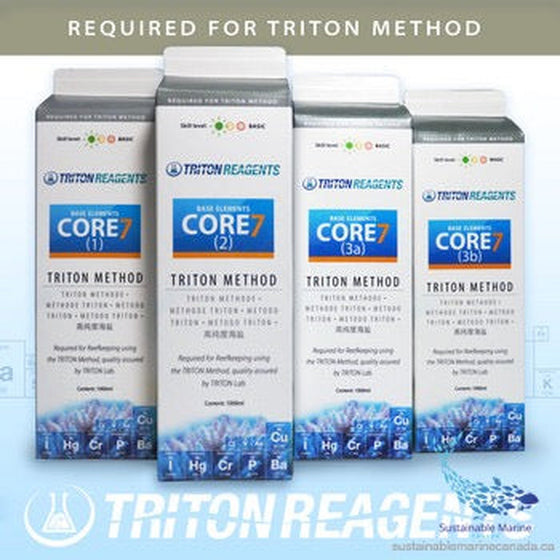 Triton Method - Core7 Base Elements 4x 1000ml - Sustainable Marine Canada - Reef Aquarium Supplies Plus+