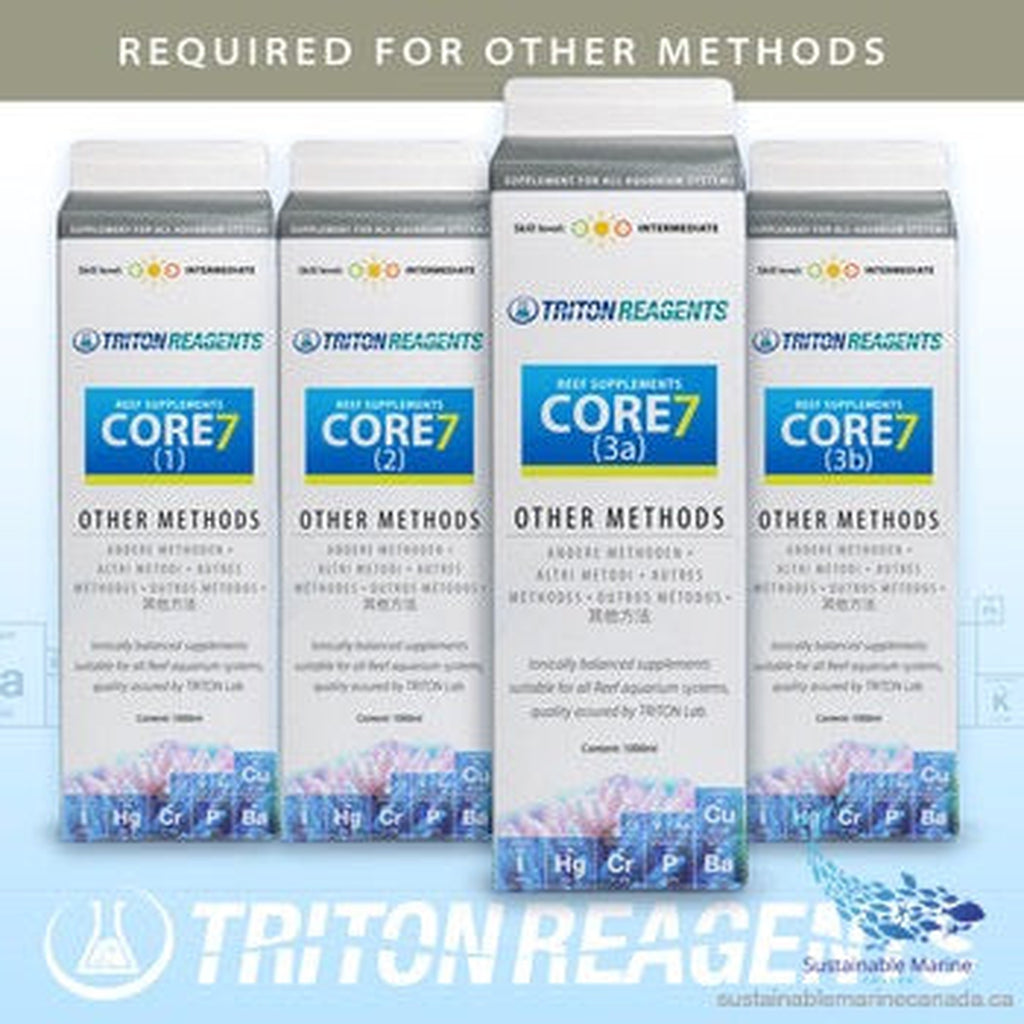 Triton (Other Methods) -Core7 Reef Supplements 4 x1000ml - Sustainable Marine Canada - Reef Aquarium Supplies Plus+