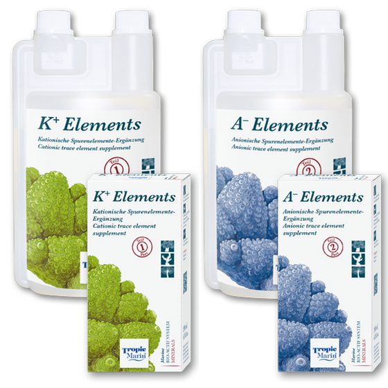 Tropic Marin® K+ ELEMENTS and A- ELEMENTS