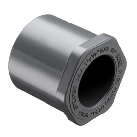 PVC SCHEDULE 40 - REDUCER BUSHING FLUSH STYLE GREY (SPIGOT/SOCKET)