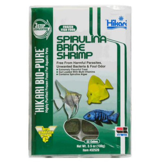 Hikari Spirulina / Brine cubes 3.5oz - Sustainable Marine Canada - Reef Aquarium Supplies Plus+