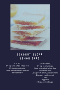 Coconut Sugar Lemon Bars