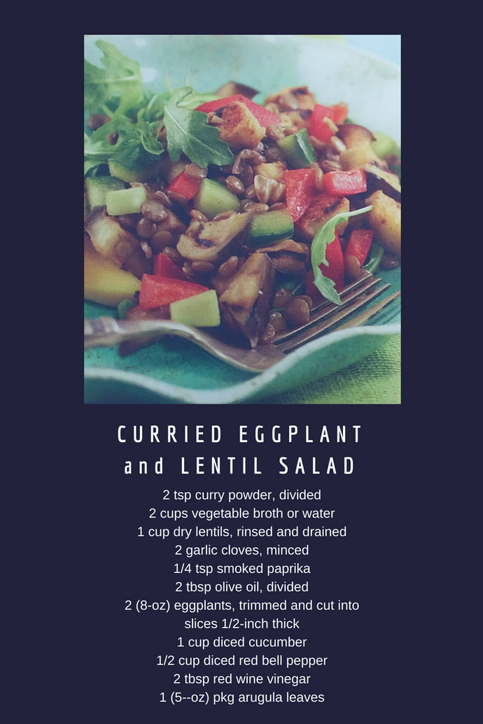 Curried Eggplant and Lentil Salad