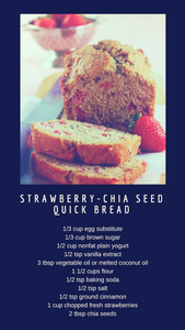 Strawberry-Chia Seed Quick Bread