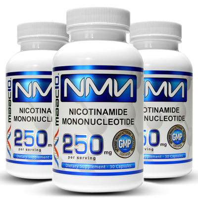 NMN 250MG Supplement 3-Pack (Nicotinamide Mononucleotide NAD+ Support (90 250MG Caps)