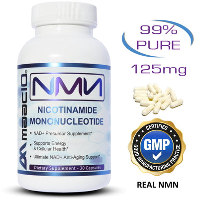NMN Supplement Nicotinamide Mononucleotide NAD+ Support - 125MG Caps