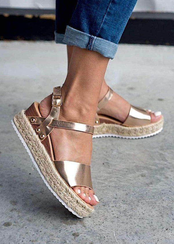 ⭐️⭐️⭐️⭐️⭐️FINAL SALE! Remy Espadrille Sandals Espadrille Wentou 5.5 Rose Gold