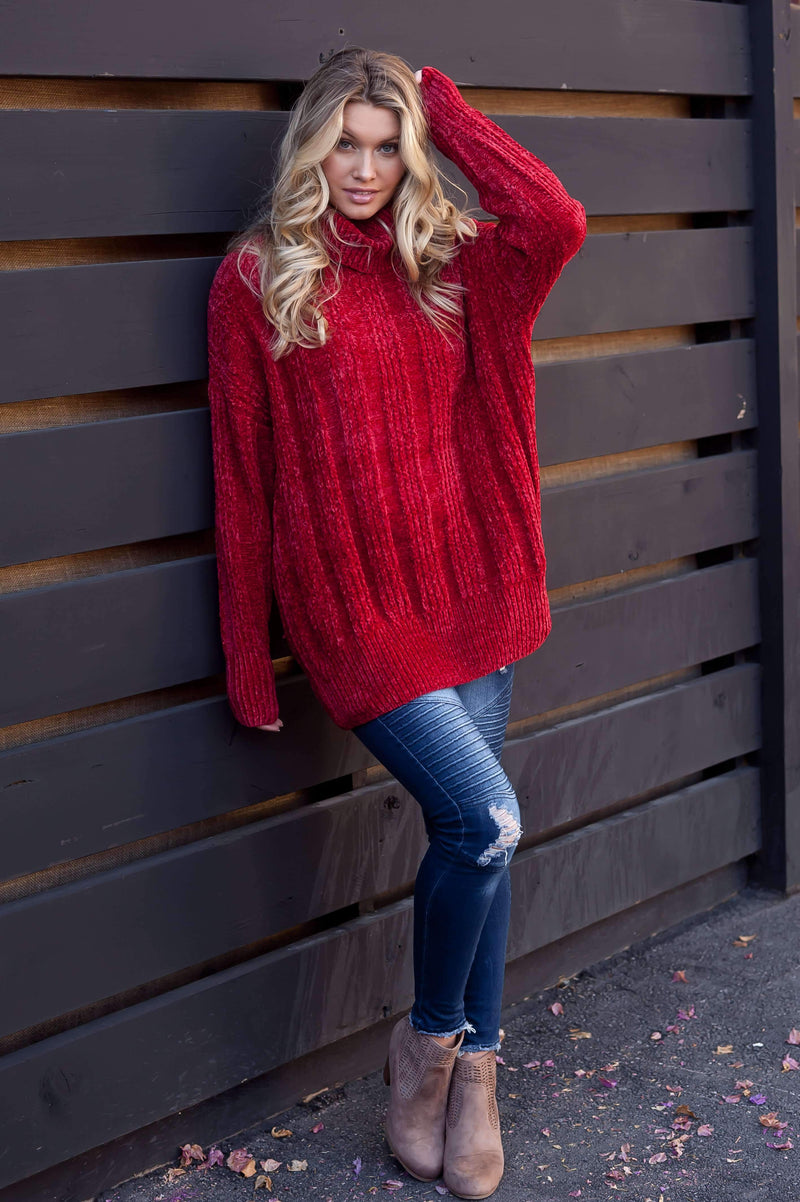 (Pre-Order) Chic Vintage Chenille Sweater Pullovers TuangBiang Official Store