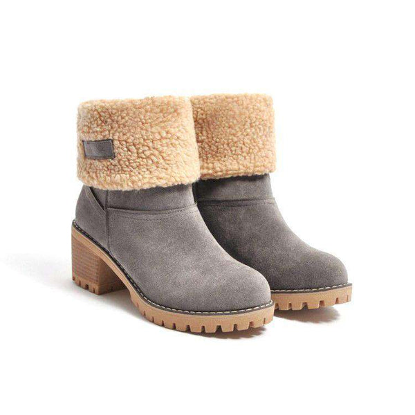 (Pre-Order) Eskimo Kiss Faux Suede Winter Boots Ankle Boots Military Hippie
