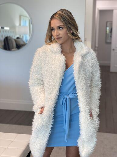 ⭐️⭐️⭐️⭐️⭐️(Pre-Order) NEW Camryn Bohemian Faux Fur Coats and Jackets Jeffrey / yiwu Wingtu Import & Export Co., Ltd . Small Cream
