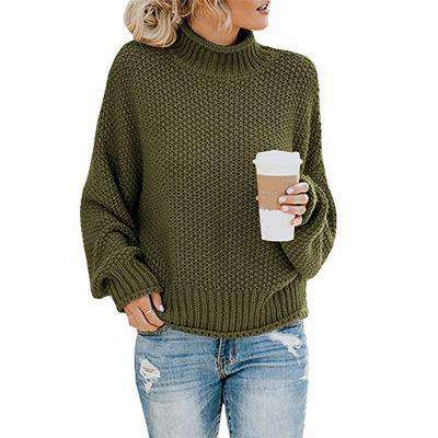 (Pre-Order) Penelope Thick Pullover Sweater Military Hippie S Green
