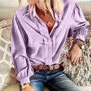 (Pre-Order) Sexy Ladies Blouse Blouses & Shirts Lipswag Store S Solid Purple