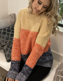 ⭐️⭐️⭐️⭐️⭐️Ruby Color Block Sweater Military Hippie