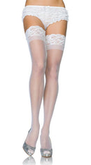 Stay Up Lace Top Sheer Thigh Highs