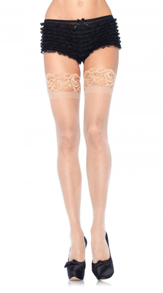 Stay Up Spandex Sheer Thigh Highs with Silicone Top