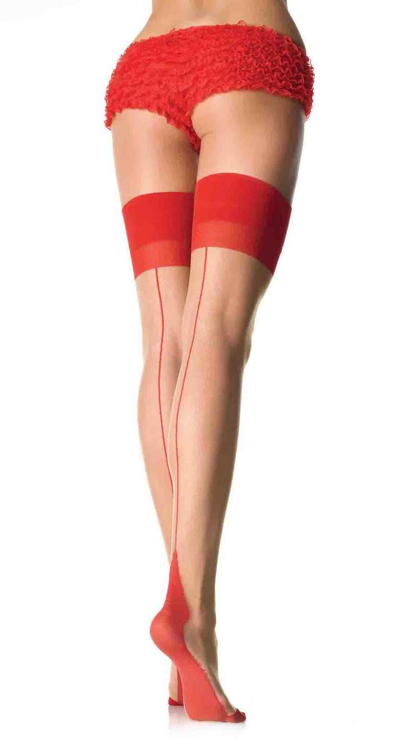 Contrast Top Backseam Stocking