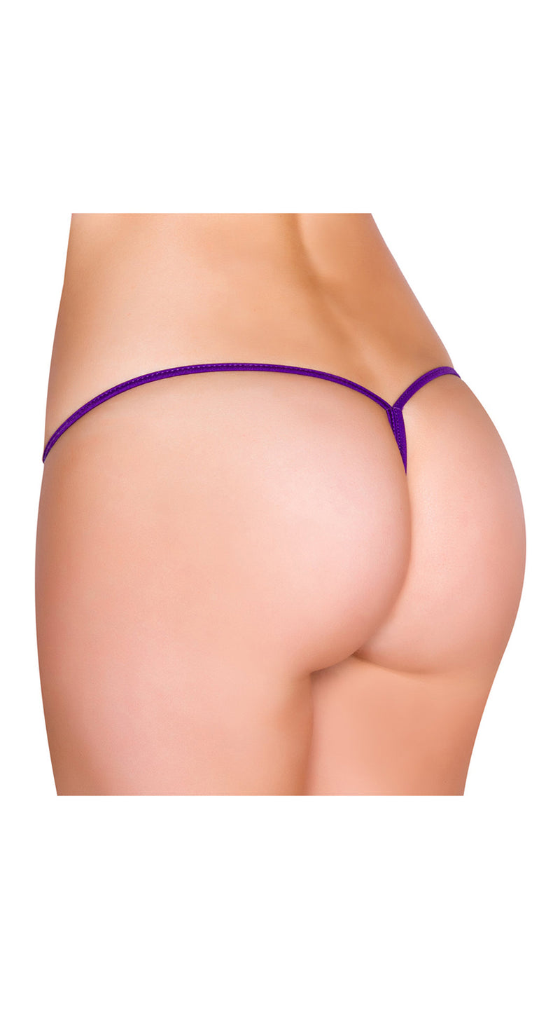 Purple Low Rise String Back Bottom