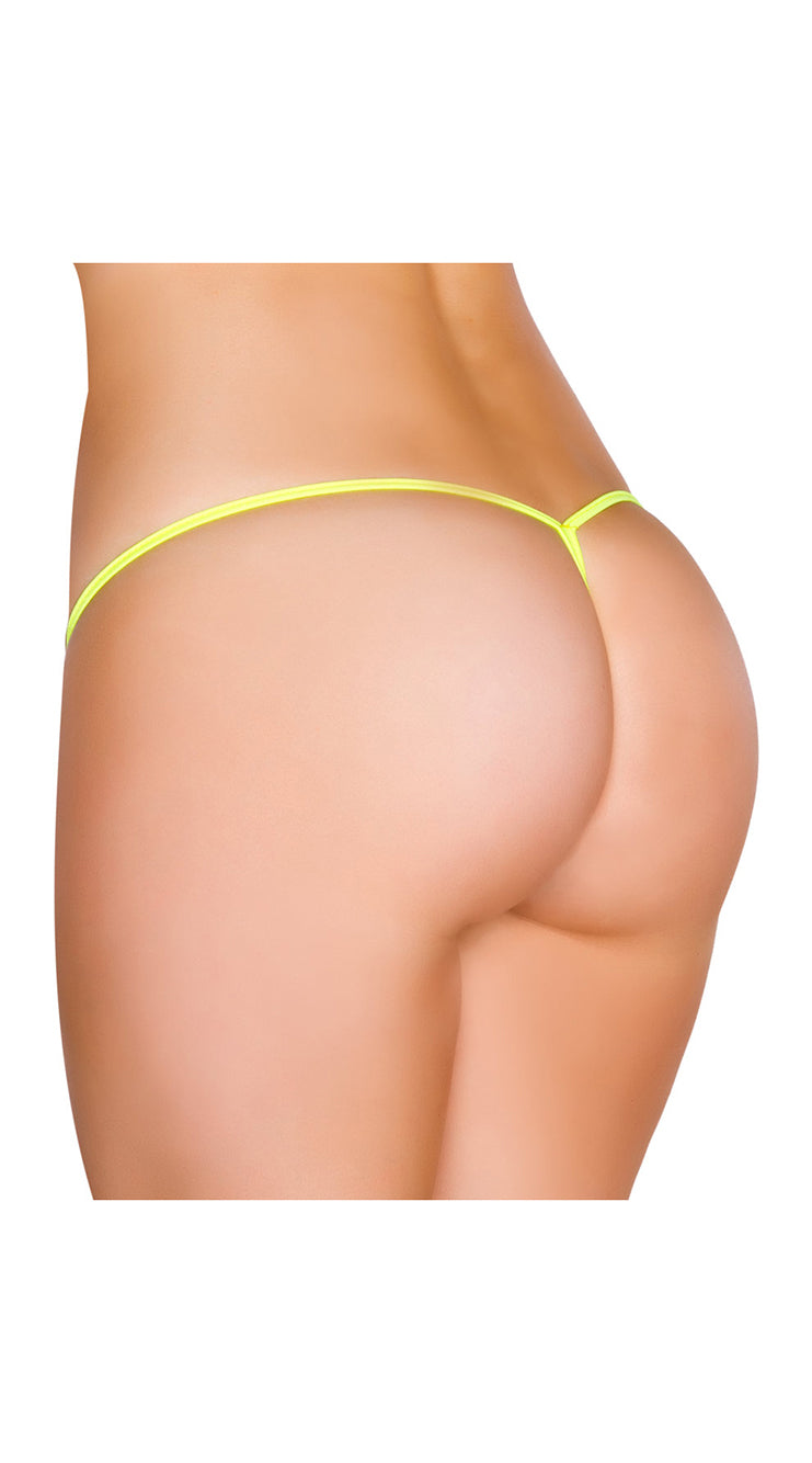 Yellow Low Rise String Back Bottom