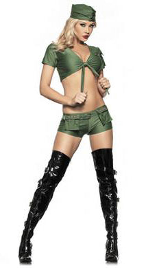 Four Piece Sexy Sergeant Set