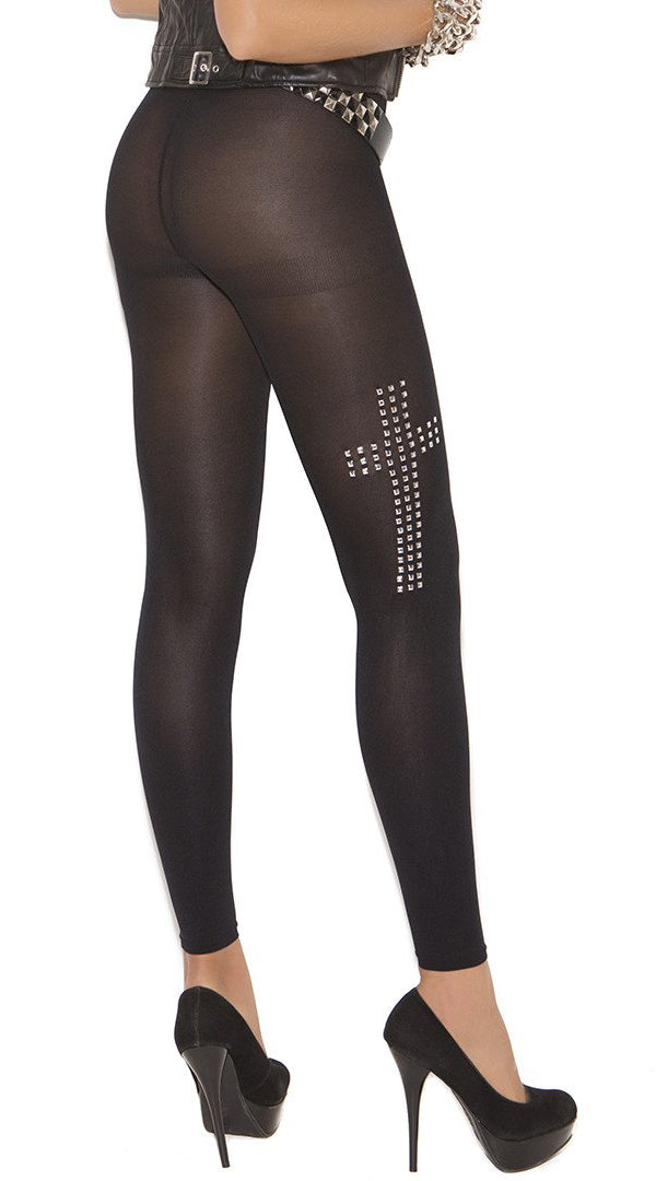 Leggings With Silver Studs