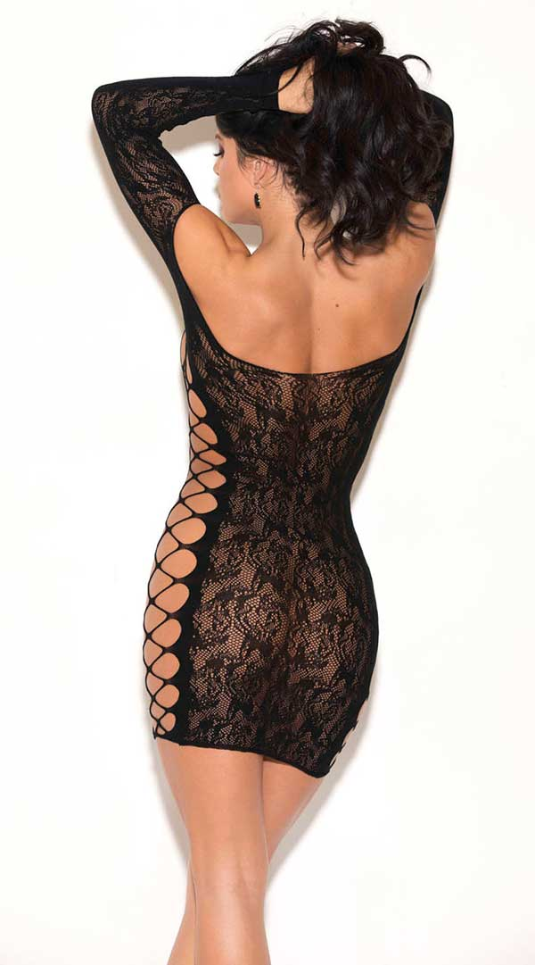 Floral Lace Long Sleeve Chemise