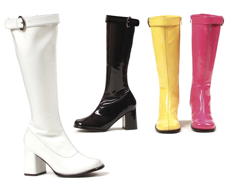 3 Inch Heel Knee High Boots Hippie Model - ElegantStripper